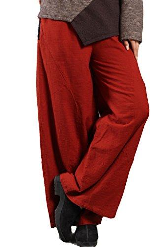 51d2e1fe0933 Jiqiuguer Women's National Linen Pants Solid Color Long Pants ...