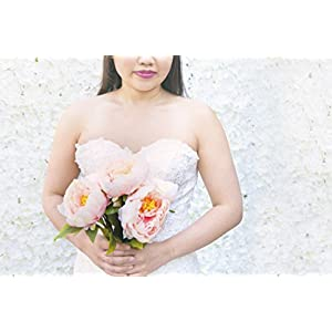 Beautiful Elegant Blush Pink Peonies Made of Artificial Soft, Flowing Silk. Looks Realistic! High end Look for Weddings, Home Decor. 65