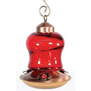 Woodlink NAH6 Audubon Glass Mini Lantern Hummingbird Feeder, Red Best Deal