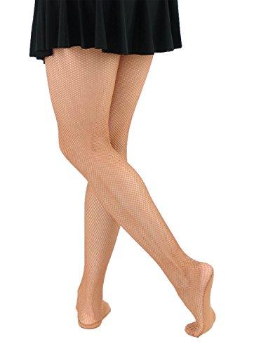 Bartolini-5A32 Professional Seamless Dance Fishnet Tight Stockings (Med/Tall, Suntan)