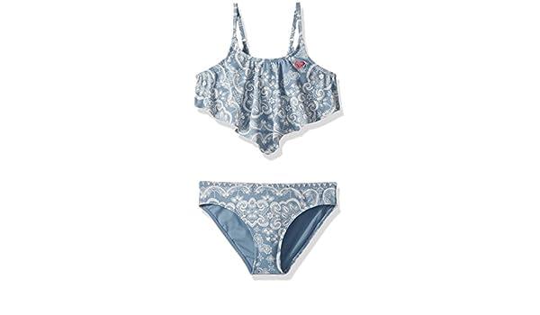 3d347e211c Amazon.com: Roxy Big Girls' Nautical Summer Bandana Swimsuit Set: Clothing