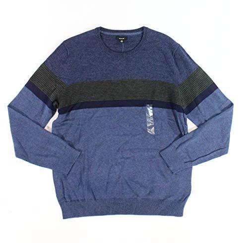 Alfani Navy Stripe - Alfani Navy Men Stripe Longsleeve Crewneck Sweater