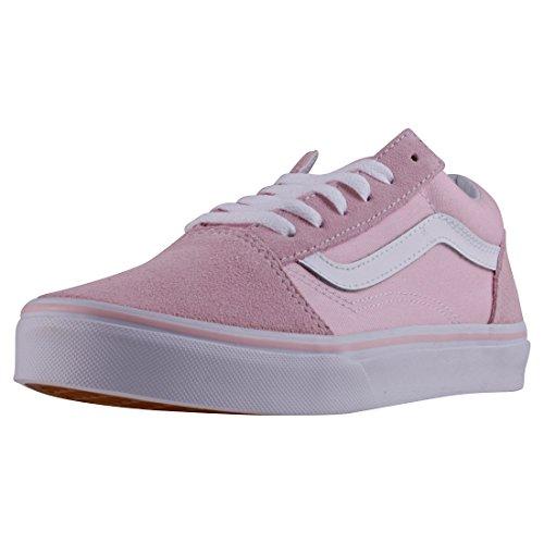 Vans Kids K Old Skool V Suede Canvas chalk Pink White Size 6
