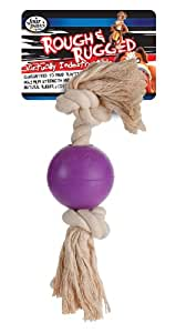 Four Paws Rough and Rugged 2.75 Inch Rope Ball Dog Toy