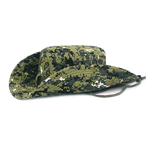 - DOCILA Military Camouflage Boonie Hats for Men Packable Jungle Safari Hunting Cap (ArmyGreen)