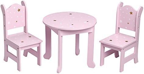 """Olivias Little World 12"""" Doll Furniture Set, Purple, Table: 12.12"""