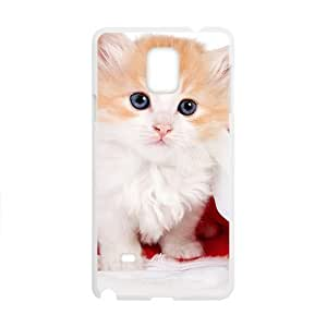 Cute Cat In Santa Hat White Phone For SamSung Galaxy S3 Case Cover