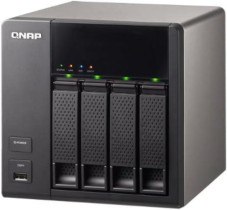 QNAP TS-412 - Servidor NAS (Indicadores LED, 4 x USB 2.0, 256 MB DDR2), Negro: Amazon.es: Informática