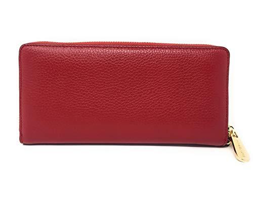 Michael Kors Jet Set Travel Continental Zip Around Leather Wallet Wristlet (Scarlet) by Michael Kors (Image #1)