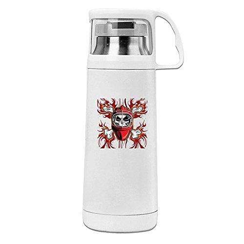 Fashion Football Team Skulls Logo Convenient Vacuum Insulation Cups - Tory Symbol Burch