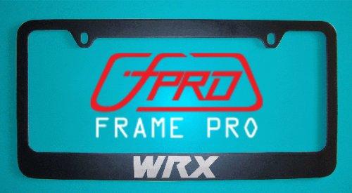 Subaru WRX Black License Plate Frame sub1012B Zinc Metal