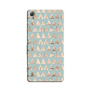 Cover It Up - Brown Pale Blue Triangle Tile Xperia Z2 Hard Case