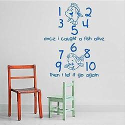 wylcxx Cartoon Wall Sticker Home Decoration Accessories Grab A Living Child Wall Art Decal Sticker 58X47CM