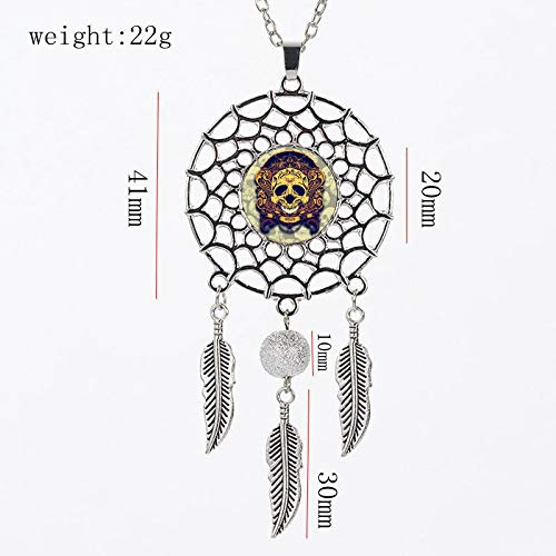 GYXYZB Shantou Time Gemstone Pendant DIY Dreamcatcher Necklace Halloween Jewelry ()