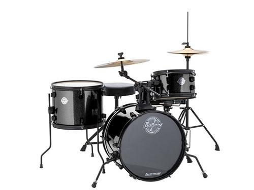 ludwig-lc178x016-questlove-pocket-kit-4-piece-drum-set-black-sparkle-finish