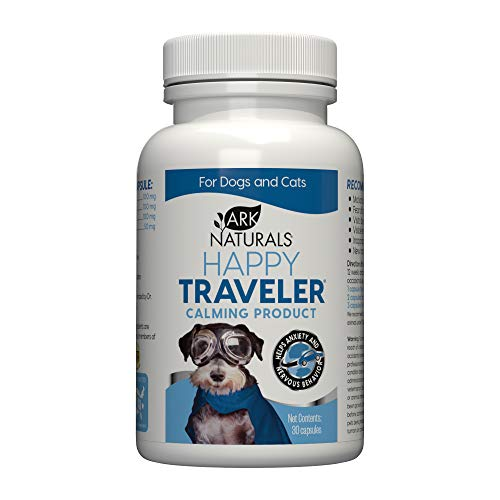 Ark Naturals Happy Traveler Calming Capsules, Vet Recommended to Ease Anxious and Nervous Behavior in Dogs and Cats, Natural Ingredients, Non-Habit Forming, 30 Count