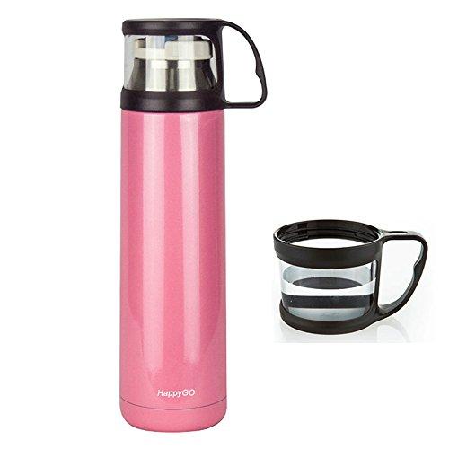 HappyGo 16oz Thermos Travel Mug Vacuum Insulated Tea Coff...