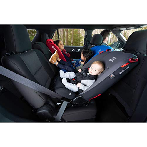 41sqg89mQhL - Diono 2020 Radian 3R, 3 In 1 Convertible, 10 Years 1 Car Seat, Slim Fit Design, Fits 3 Across, Black Jet