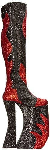 Pleaser womens Spla3020/R-bg Red Patent-black Glitter cgXOOvpb