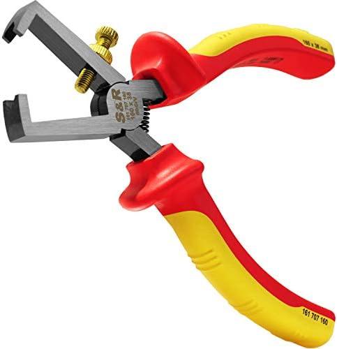 S&R Alicate Pelacable Crimpador Electricista 160mm Aislado 1000V VDE. Acero Cr-V 60 fosfatado: Amazon.es: Bricolaje y herramientas