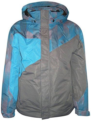 Pulse Big Boys Youth Kids Insulated Snow Ski Jacket Coat Fade (Medium (12/14), Teal/Grey)
