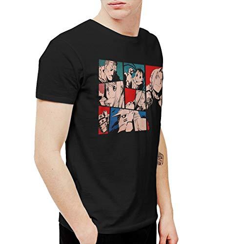 URAHARA Full Metal Alchemist Brotherhood Short Sleeve T-Shirt Black 3XL