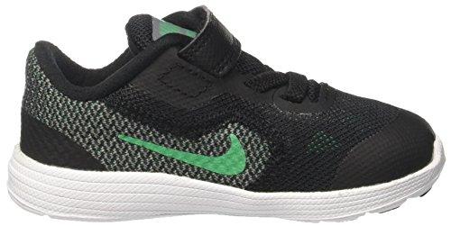 Nike Revolution 3 Tdv, Sneakers para Niños Negro (Black/stadium Green/cool Grey/white)