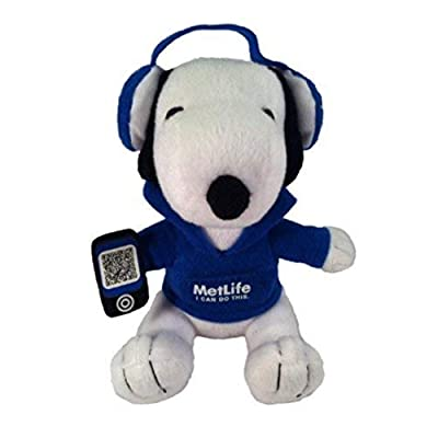 Metlife Snoopy Plush with Headphones by Metlife: Toys & Games