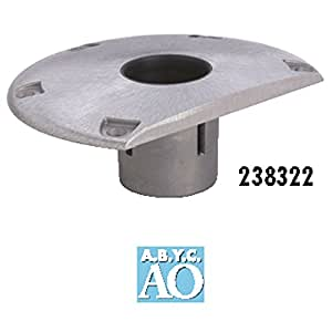 "attwood 238322-1 238 Series Socket Base - Aluminum, 9"" D-Shaped"