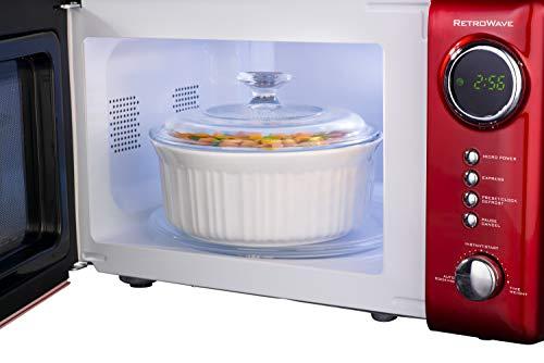 Nostalgia RMO770RED Retro 700-Watt Countertop Microwave Oven, 0.7 Cu.Ft Red - smallkitchenideas.us