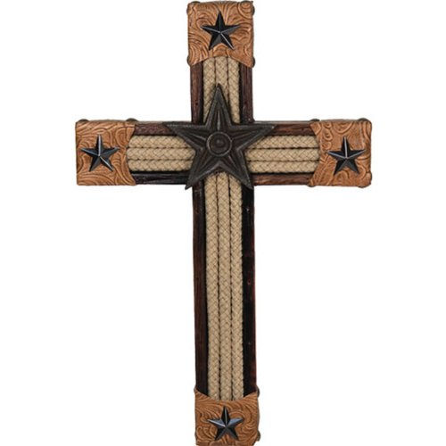 Rivers Edge Products 14-Inch Rope And Leather Horse Cross