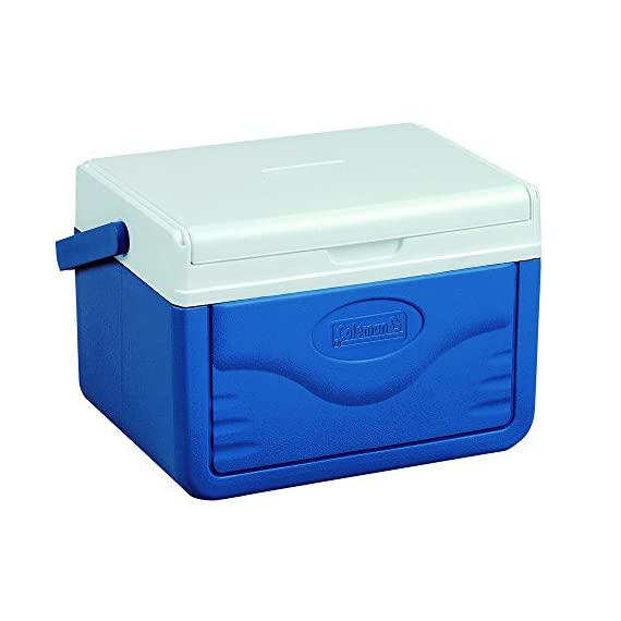 Coleman FlipLid Personal Cooler, 5 Quarts 1 Holds 6 cans FlipLid top reverse to become a serving tray Molded can holders on inside of lid