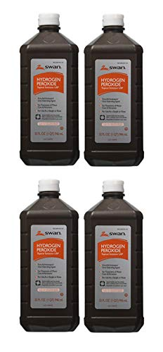 Swan DASP Hydrogen Peroxide Topical, 32 Ounces, Pack of 4