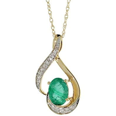 drop diamond com shaped emerald top necklace ydiamonds pear