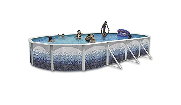 TOI - Piscina desmontable ovalada decorada modelo trencadisc - 550X366X120: Amazon.es: Juguetes y juegos