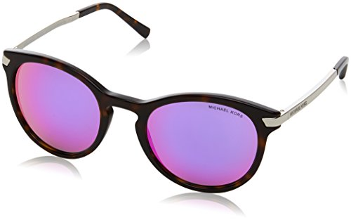 Michael Kors MK2023 32214X Dark Tortoise Adrianna III Round Sunglasses Lens - Sunglasses Michael Tortoise Kors