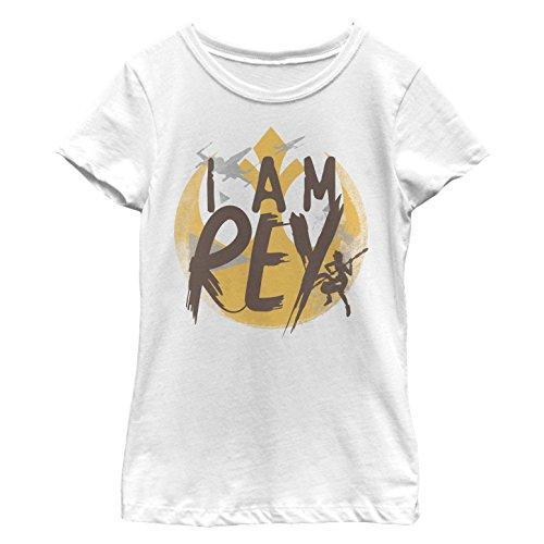 Star Wars Forces of Destiny Girls' I Am Rey White T-Shirt
