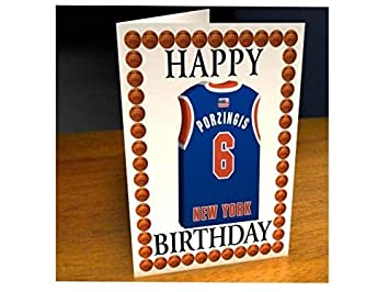 NBA BASKETBALL JERSEY THEMED GREETING CARDS