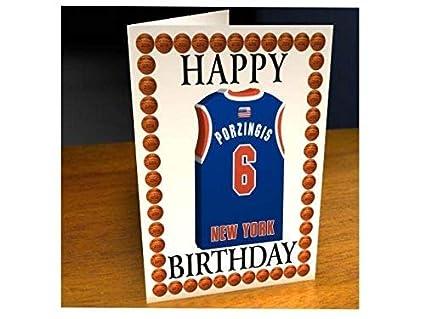 Tarjetas de cumpleaños con diseño de camiseta de baloncesto de la ...