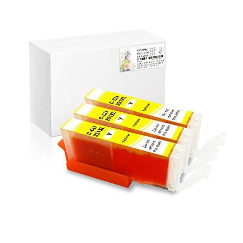 (Conink Pgi-250xl Cli-251xl Ink Cartridges Compatible to Pixma Mx922 Mx722 Ip7220 Ip8720 Ix6820 Mg5420 Mg5422 Mg5520 Mg5522 Mg5620 Mg6320 Mg6420 Mg6620 Mg7120 Mg7520 Printer, (3Y))