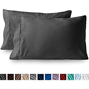 Bare Home Premium 1800 Ultra-Soft Microfiber Pillowcase Set - Double Brushed - Hypoallergenic - Wrinkle Resistant (King Pillowcase Set of 2, Grey)