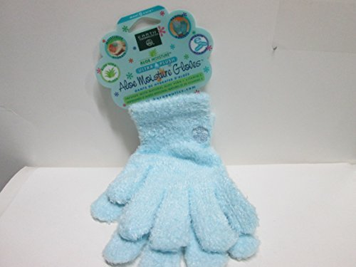 Earth Therapeutics Aloe Moisture Gloves, Ultra Plush Blue, 1 Pair by Earth Therapeutics