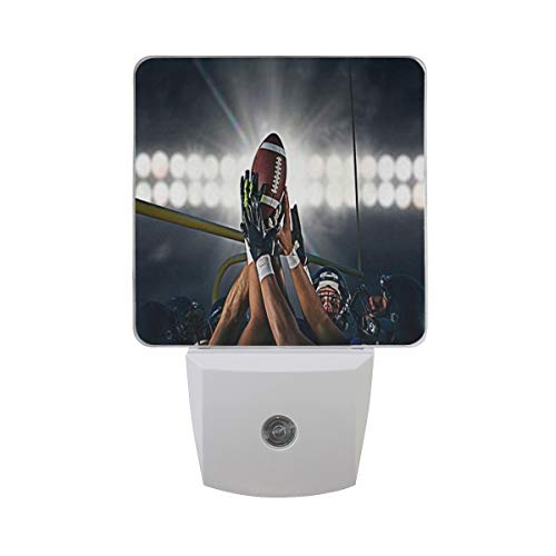 Night Light Custom Personalized Super Bowl Wallpaper Led Light Lamp for Hallway, Kitchen, Bathroom, Bedroom, Stairs, DaylightWhite, Bedroom, Compact