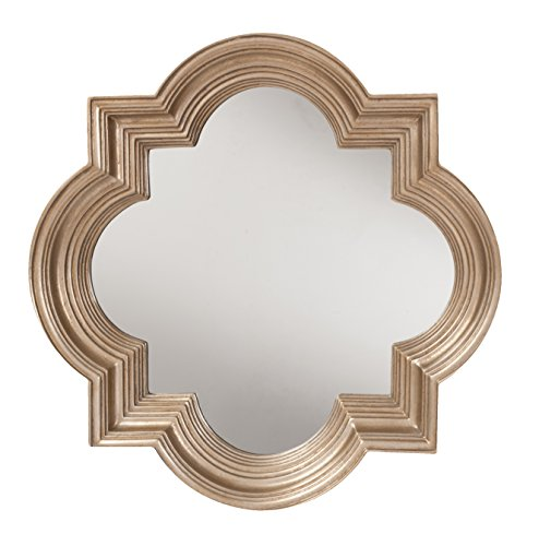 OSP Designs The Gatsby Wall Mirror with Platinum Gold Frame, Silver (Quatrefoil Mirror)
