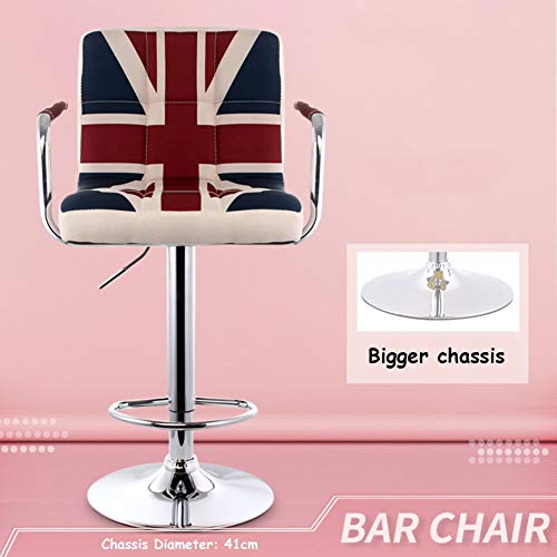 ATR European-Style Wrought-Iron Wooden Barstool, with backrest, Simple and Modern Home-Style Creative bar Stool, Office Residential Desk-A H: 65 cm (26 inches)