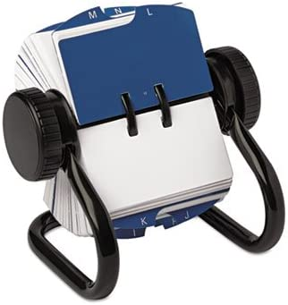 Black Rolodex Open Rotary Card File Holds 250 1 3//4 x 3 1//4 Cards