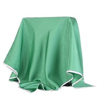 Prettystern - 90cm quadratisch Seidentuch einfarbig unifarbe weiß Rand für Abendkleid - 5 Farbe