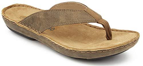 Beachcomber Sandal - Tamarindo Beachcomber Sandal Men's Leather Softbed Flip Flop - Sand - 9