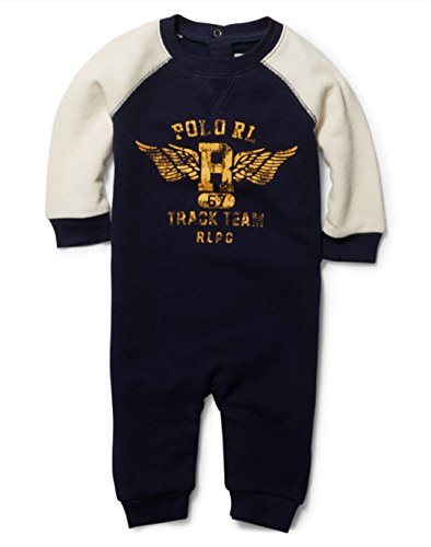 Ralph Lauren Polo Baby Boys Graphic Print Coverall