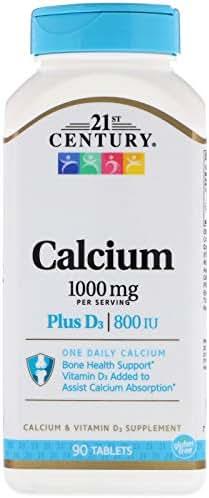 21st Century, Calcium Plus D3, 1,000 mg / 800 IU, 90 Tablets